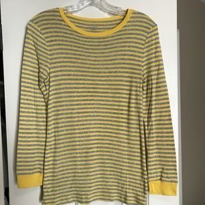 J. Crew Fitted Long sleeve striped tee